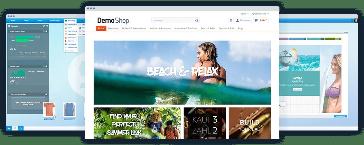 Screenshots Shopware 5