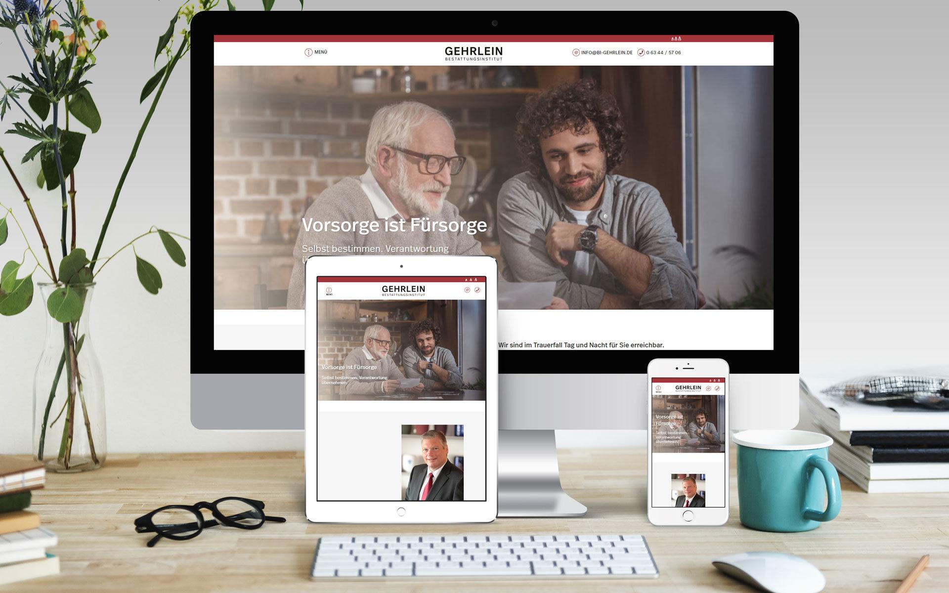 Webdesign Vorschau auf verschiedenen Devices
