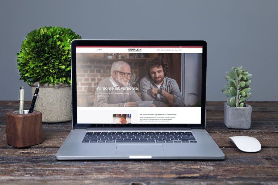 Bestattungsinstitut Gehrlein Lingenfeld Webseite Relaunch 2019